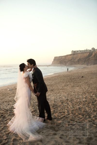 a moment stolen from the reception for the prettiest beach shot Photography by christianothstudi...  Read more - www.stylemepretty...
