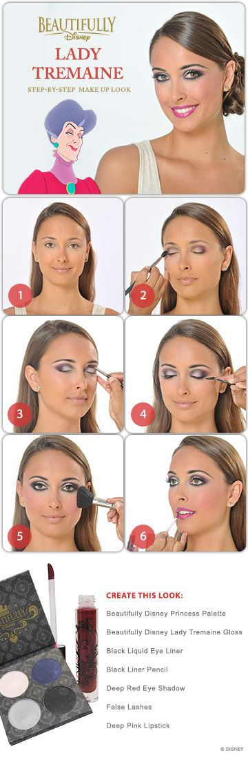Lady Tremain Makeup Tutorial #makeup #DIY #tutorial #Cinderella #WaltDisneyWorld