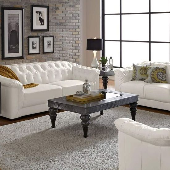 51 White Leather Furniture Ideas, White Leather Living Room Set