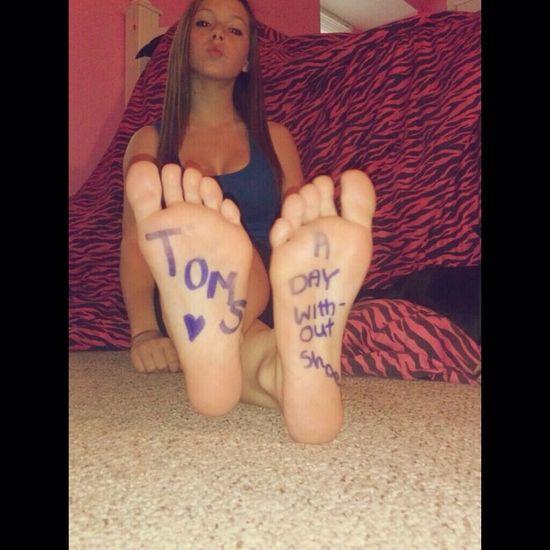 Nice teen feet