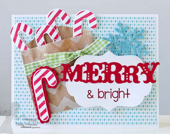 Very cute candy cane pocket card. #cards #card_making #Christmas