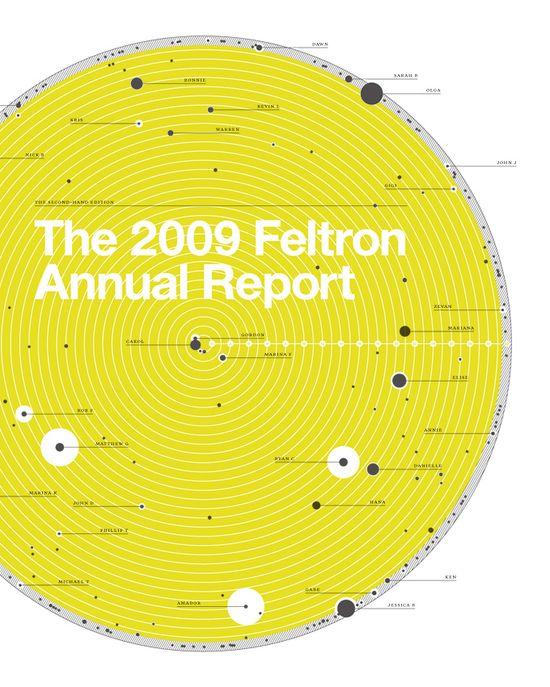 The Feltron 2009 Annual Report #information #design