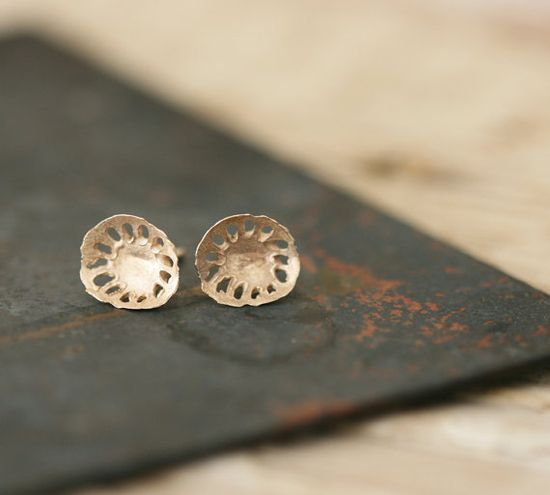 Kloro Studs  9ct Gold Earrings by afjewellery on Etsy, $98.00