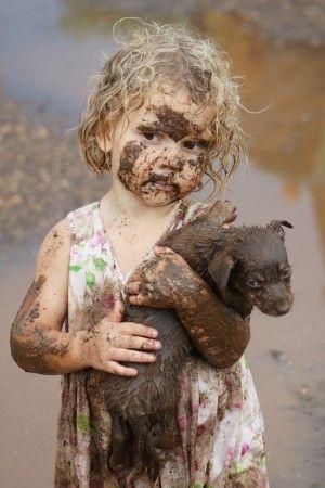 Muddy babies ♥
