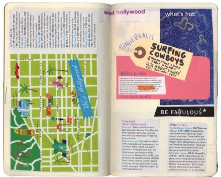 Travel Guide LA. Turn the book as you turn the pages