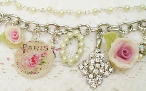 sparkly baubles handmade charm bracelet by IndiaRoseVintage