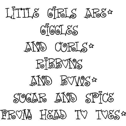 Girls Are Giggles And Curls.Girls Room Wall Quotes Words Sayings