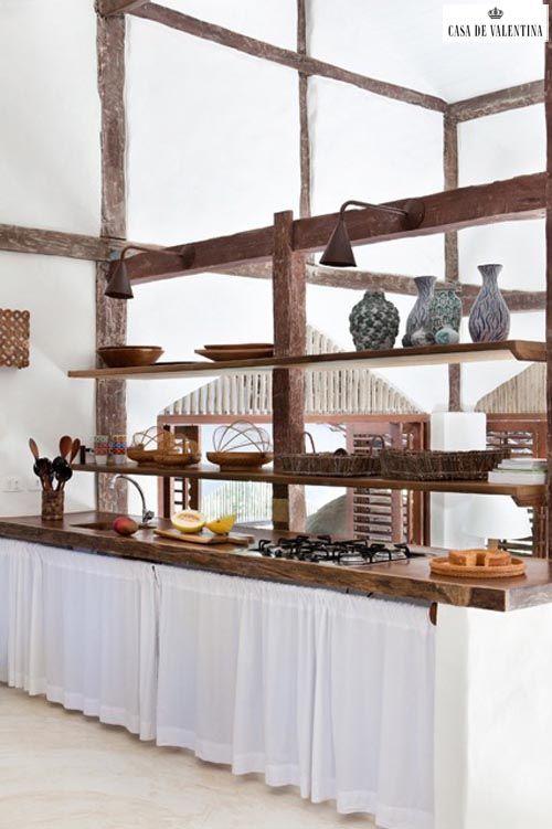 Via Casa de Valentina www.casadevalenti... #details #interior #design #decoracao #detalhes #kitchen #cozinha #rustic #rustico #casadevalentina