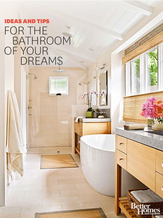 We have all the ideas, tips and tricks you need to help you get the bathroom you have always dreamed of! Check out tons of fresh bathroom decorating ideas: www.bhg.com/...