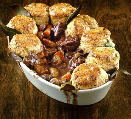 Herby lamb cobbler from BBC's GoodFood.  YUM!
