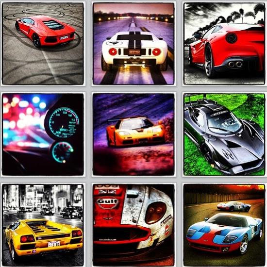 Spectacular car collage!