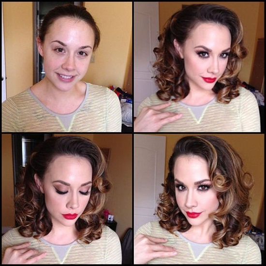 Chanel Preston - pornstar - before and after makeup