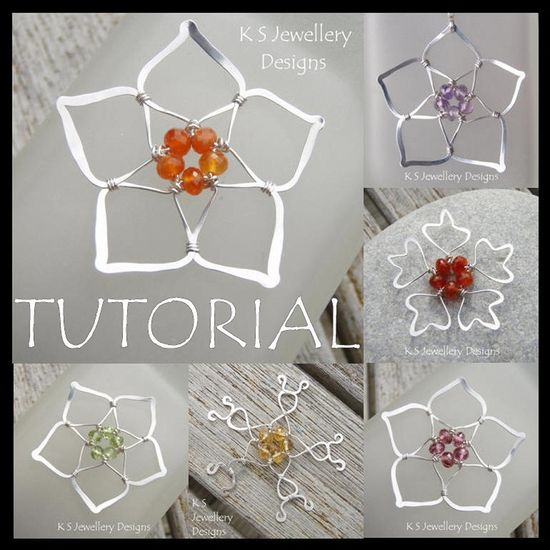 Wire Jewelry Tutorial - FIVE BEAD FLOWERS - Step by Step Wire Wrapping Wirework Instructions. $5.00, via Etsy.