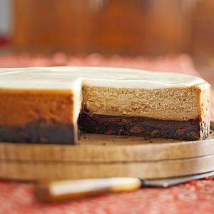 Chocolate, cinnamon, espresso, and molasses combine in this irresistible cheesecake recipe.