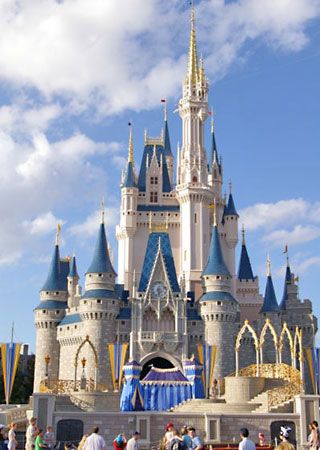 Walt Disney World - Cinderella's Castle.   If only they'd let you IN!