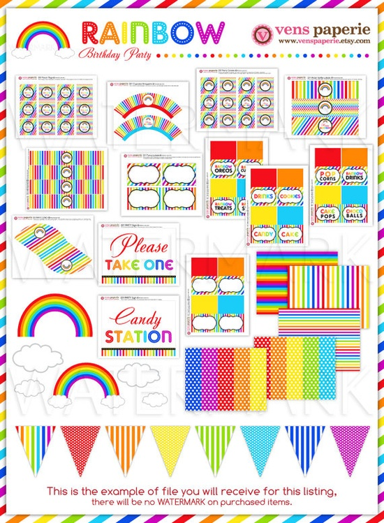 Rainbow Birthday Party Package