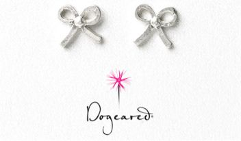 bow earrings by Dogeared #giveaway #LaurenConrad