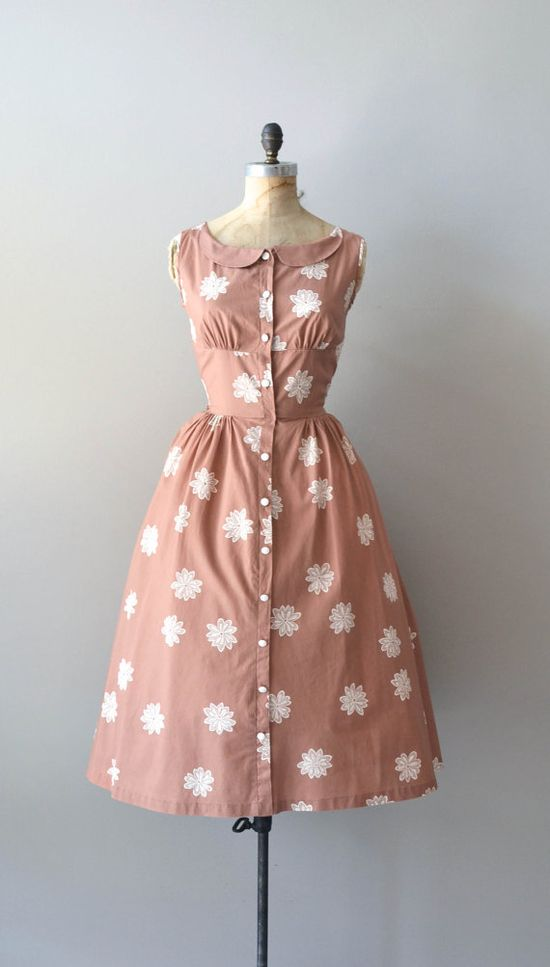 1950s Spiroflower dress