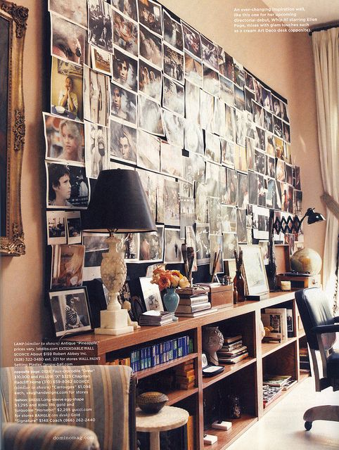 love this huge wall of photo clippings