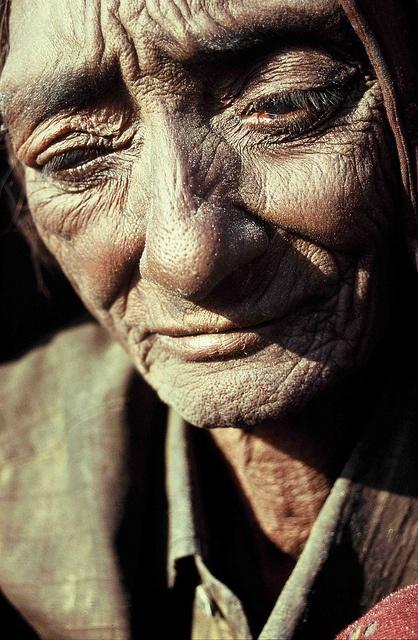 "A ""Gaduliya lohar"" woman : she belongs to an untouchables blacksmiths group."