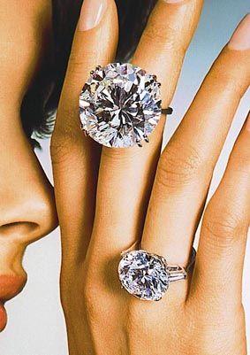 huge diamond wedding rings