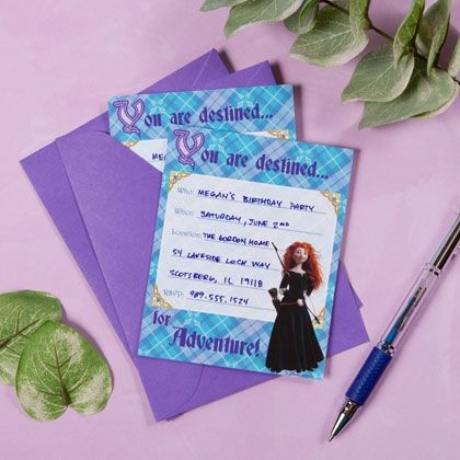 Printable   Brave Party Invitations