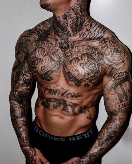 Brust mann bilder tattoo 100 Familien