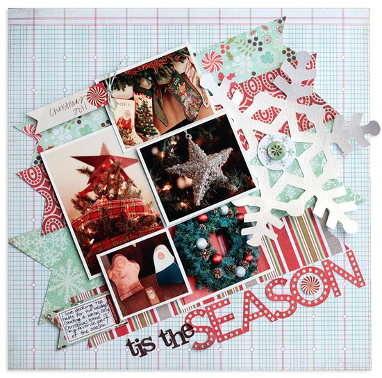 #papercraft #scrapbook #layout tis the season{BasicGrey} - Scrapbook.com