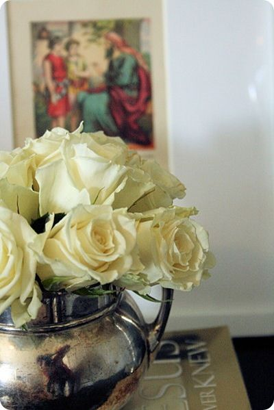flowers in silver