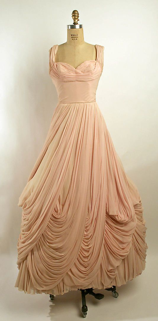 French Silk Ball Gown 1950s