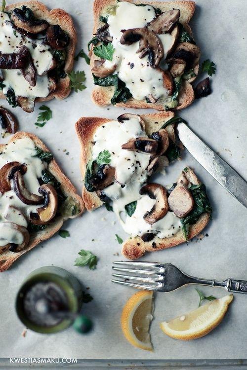 Mozzarella Mushroom toast