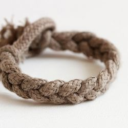 DIY rope bracelet (from a J.Crew shopping bag), and 3 other DIY projects. DIY Feather Manicure, DIY Sparrow Stockings, DIY Rustic Votives.