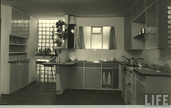 Kitchen interior 1940. LIFE
