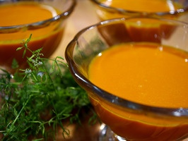 Carrot and Carrot Juice Soup Recipe : Laura Calder : Recipes : Cooking Channel