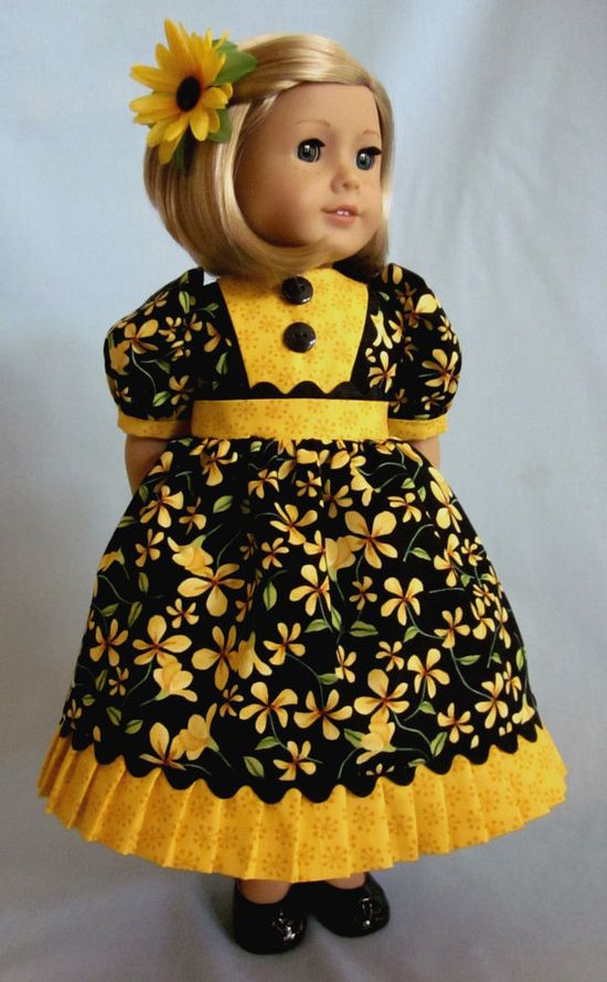American Girl Clothes   Dress and Hair Clip by SewMyGoodnessShop, $20.00