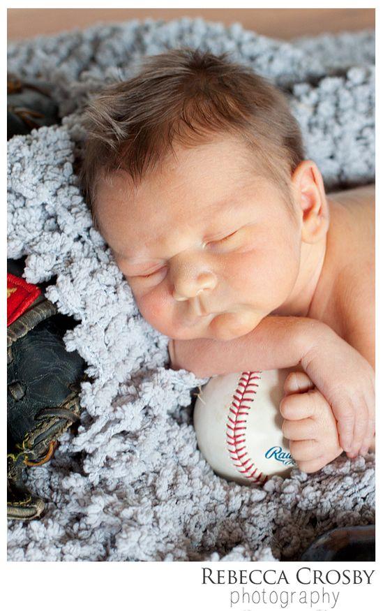 Newborn Photo Ideas Baseball