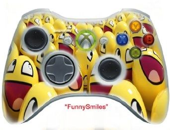 Amazon.com: Funny Smiles  skin , Three additional modes (10 Modes Dual Rapid Fire + Fast Aim Mode + Central Buttons Illumination) Wireless Original Microsoft controller Xbox 360 (modded) ,the Best for MW1.2.3 , COD , BATTLEFIELD , HALO , other Shooter Game: Video