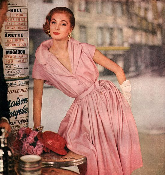 Suzy Parker wearing Givenchy - Orlon, 1954
