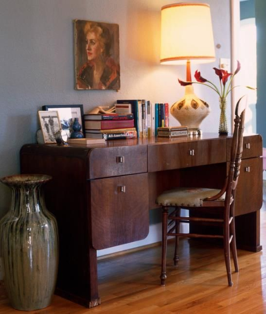 home office design via kishani perera inc. I love this desk.