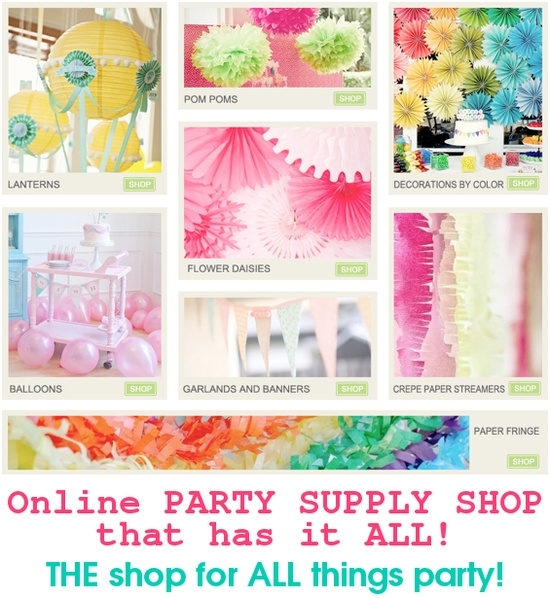Online party supply shop that has it ALL! SO many cute ideas & products! Kara's Party Ideas SHOP karaspartyideas.com/shop #party #supply #shop #online