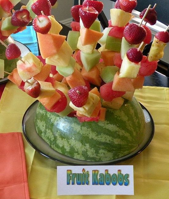 Fruit Kabobs! Great for anytime.
