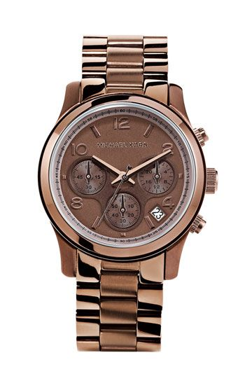 michael kors 'runway' chronograph watch