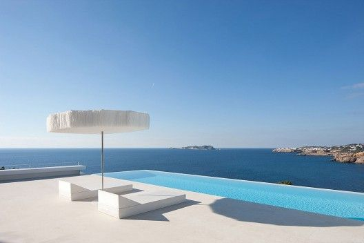 Pool at Infinity House, Baleares, Spain by Atelier d'Architecture Bruno Erpicum & Partners