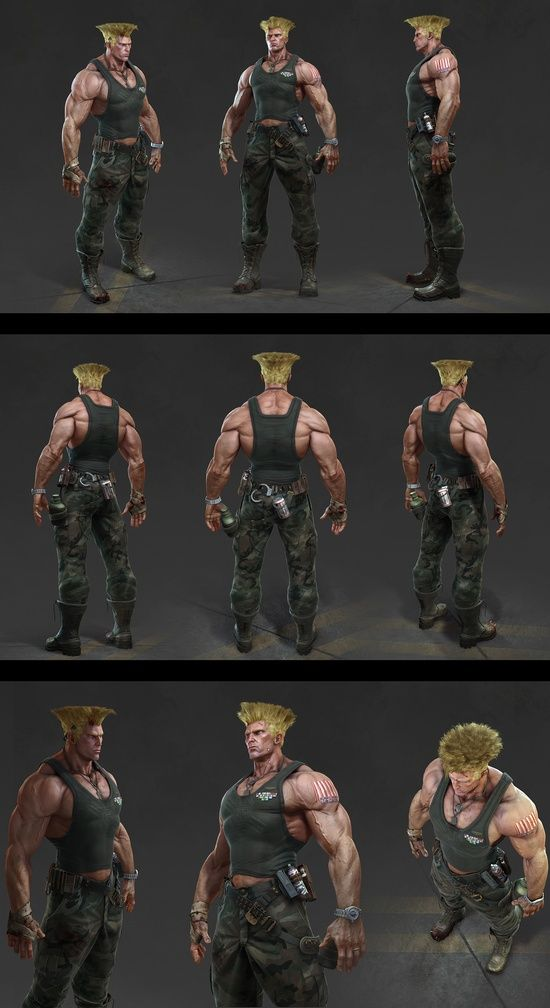 my fave char in 3D!: Guile from Street