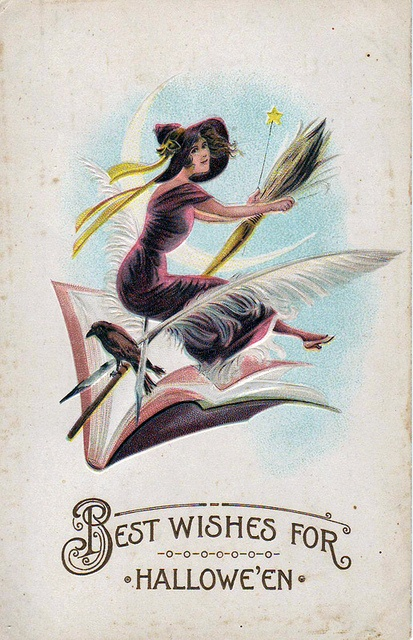 Best wishes for Halloween! #postcards #vintage #Halloween