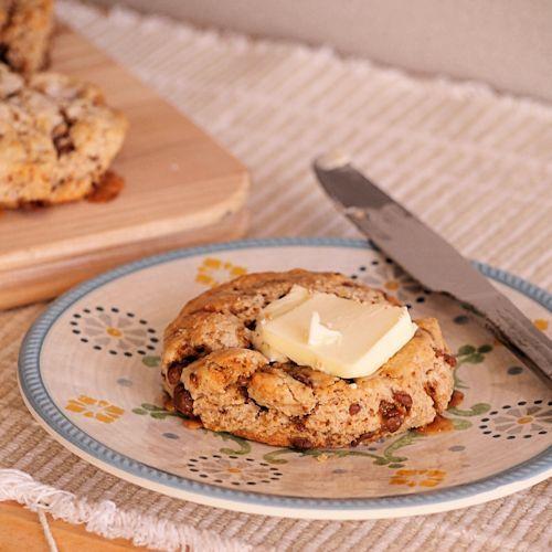 Toffee-studded mascarpone scones