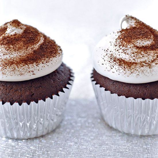 Devil's Food Cupcakes with Espresso Meringue // More Fabulous Cupcakes: www.foodandwine.c... #foodandwine