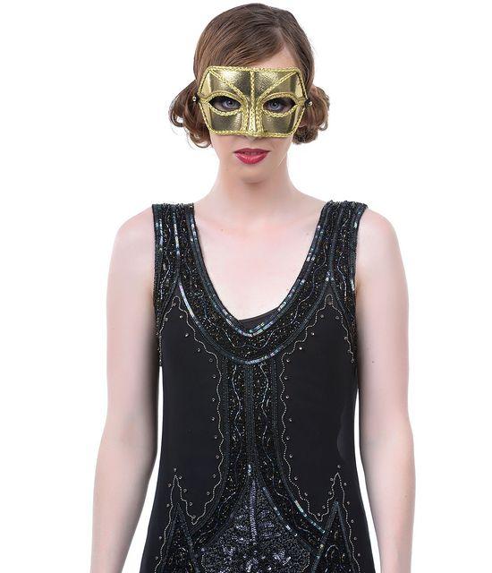 Handmade Golden Alexis Masquerade Companion Mask #uniquevintage