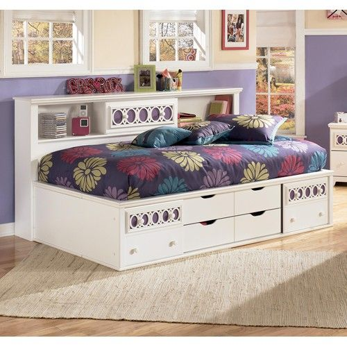 Zayley Twin Bedside Bookcase Daybed by Signature Design #Bedroom #furniture