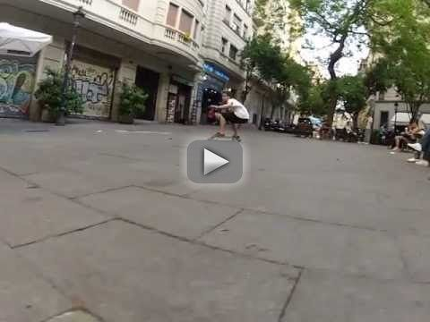 """Longboard Double Frontside - GoPro HD HERO 2 (HandMade Longboard) - This video has been taken in a typically spot in Barcelona called """"Plaça de Narcís Oller"""" and known as """"The Gypsies Square"""". Go #oyin handmade review #handmade earrings"""
